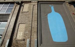blue bottle coffe sign