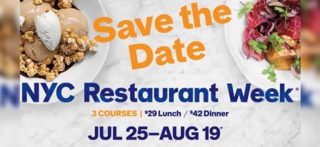 紐約餐廳週 Summer Restaurant Week 又來了~趕緊訂位吧!(7/25 – 8/19)