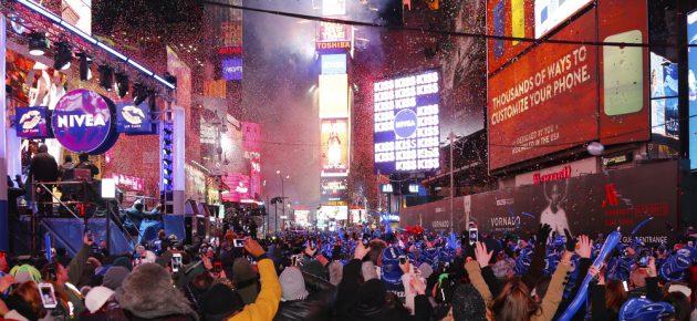 纽约市除夕夜@时代广场!