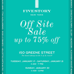 FIVESTORY NY off site SALE! 折扣高達75% off (1/17-1/22)