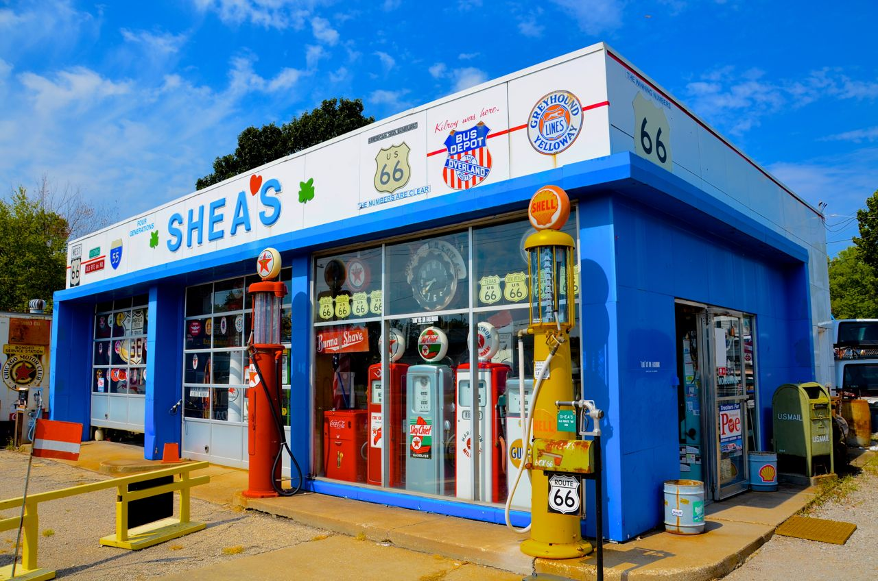 sheas-gas-station