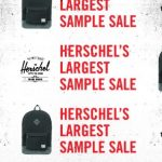 入手包包時機!Herschel Supply Co Sample Sale (8/21-26)