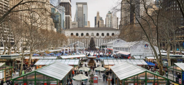 Bryant Park Winter Village冬日市集即將開跑!
